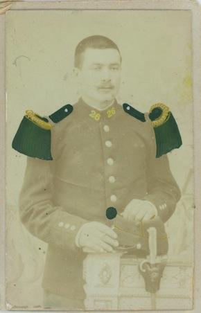 Guillaume Garrec au service militaire - coll. M. Cotty