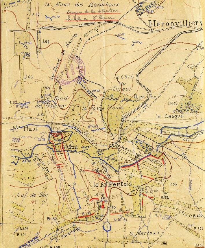"""Secteur de Moronvilliers, le 22 avril 1917 - extrait du JMO du 14e RI (Mémoire des Hommes"""""""