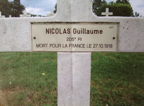 Tombe de Guillaume Nicolas. Coll. C. Capitaine