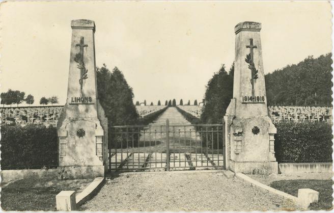 Entrée de la nécropole de Lihons - coll. personnelle J-Y Le Page