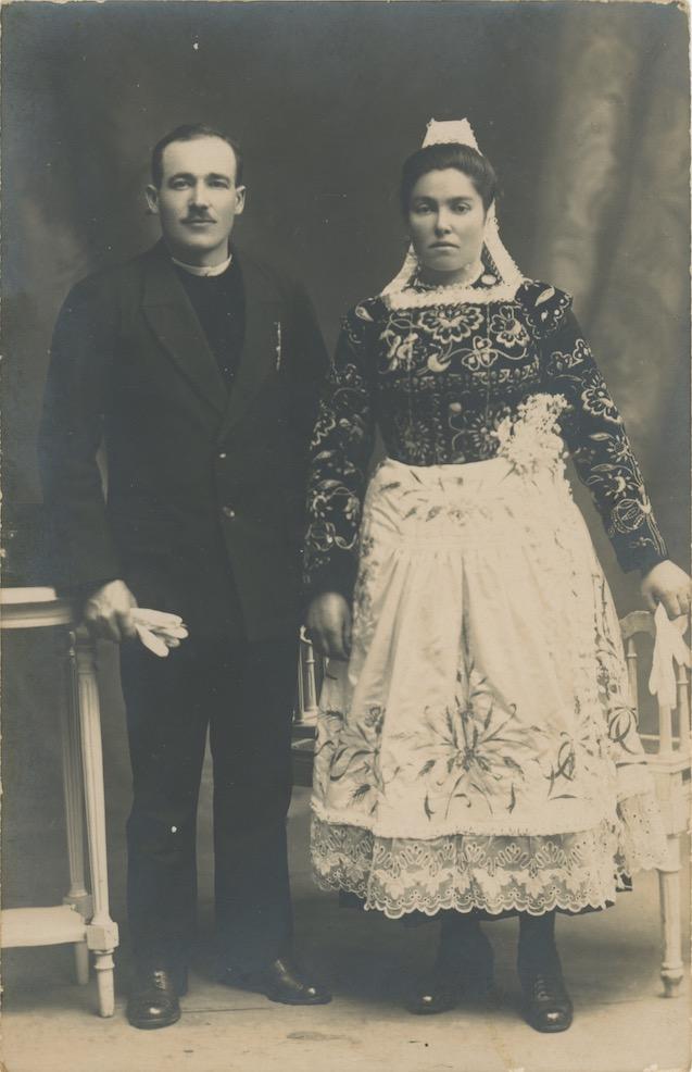 Photo de mariage de René Hénaff et Marie Perrine Louboutin. Coll. MH Ollivier